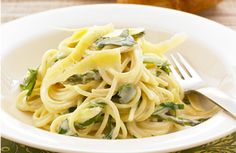 Espaguetis con queso philadelphia