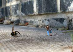 Coolest mini street art - Fallout?