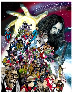 Alan Moore by Brian Williamson. Author of some of my favorite comic book stories, including Watchmen and The Killing Joke.