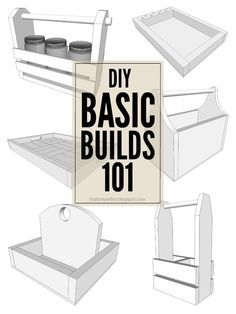 DIY Basic Builds 101: easy, simple builds to get started woodworking #woodworking