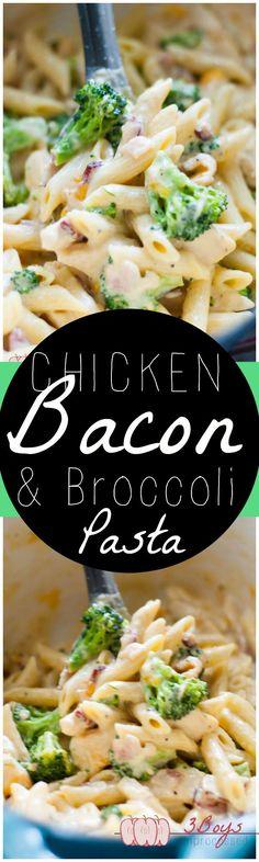 Chicken, Bacon, and Broccoli Pasta