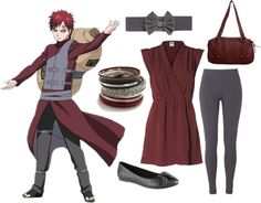 Casual cosplay of Gaara (from Naruto Shippudden anime series)-- character inspired outfit Easy Cosplay, Casual Cosplay, Cosplay Outfits, Anime Outfits, Cosplay Costumes, Anime Inspired Outfits, Character Inspired Outfits, Casual Outfits, Cute Outfits