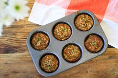 Perfect for breakfast, lunch or a quick and easy dinner! Make these delicious savory muffins in advance, keep in the freezer and just reheat when you need them!
