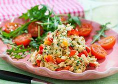 Äggröra med paprika, lök och rucolasallad-5:2-recept | MåBra - Nyttiga recept
