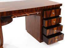íróasztal, antik art deco stílusú bútor