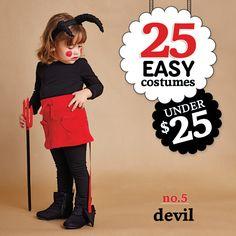 25 easy costumes under $25 - Devil - Today's Parent. http://www.todaysparent.com/family/activities/halloween-costumes-headbands/ #halloween #costumes