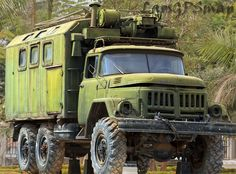 Russian Zil truck used as radar control center for Sam Missile, Ho Chi Minh trail