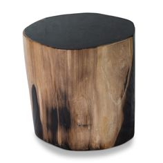 Gramercy Petrified Wood Stool// #aire #furniture #petrifiedwood #design #modern #prganic #furniture #stool