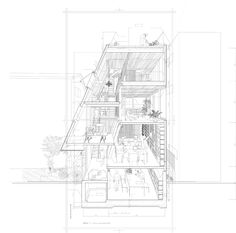 sectional perspective by Atelier Bow Wow, Japan Coupes Architecture, Plans Architecture, Architecture Graphics, Japanese Architecture, Architecture Drawings, Architecture Details, Architecture Illustrations, Installation Architecture, Famous Architecture
