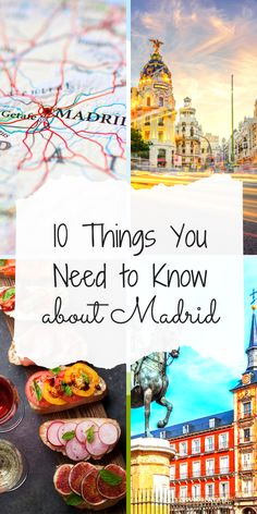 10 Things to Know About Madrid Everything you need to know before a trip to Spain's capital, Madrid, including Retiro Park, Spain's Royal Palace, and all about tapas! Madrid Travel, Barcelona Travel, Places In Europe, Best Places To Travel, Backpacking Spain, Visit Madrid, Spain Culture, Spain Travel Guide, Spain Holidays