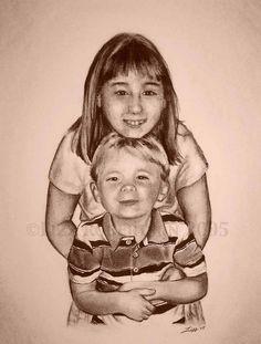 Siblings by Lizz Robertson Klaras  on ARTwanted LK Custom Creations on Facebook www.LizzKlaras.showitsite.com