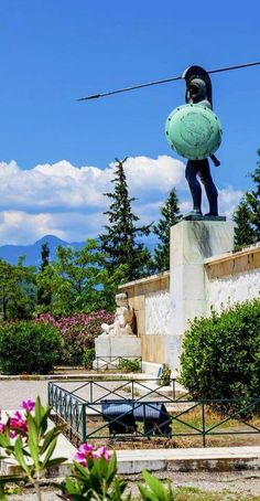 The Statue of Leonidas, the King of Spartans, in Thermopylae, Greece