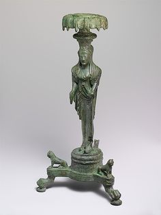 Bronze thymiaterion (incense burner)  periodo late archaic,late 6th-5th century BC  Bronze Etruscan culture  Metropolitan Museum