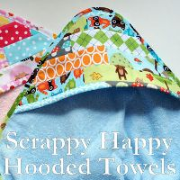 We would like to share something that we think is pretty special. It's an ad by Shannon Fabrics for their Terry Cloth Cuddle showing our Scrappy Happy Hooded Towels that we m… Sewing To Sell, Sewing For Kids, Baby Sewing, Hooded Towel Tutorial, Burp Cloth Tutorial, Diy Baby Gifts, Baby Crafts, Cute Sewing Projects, Sewing Crafts