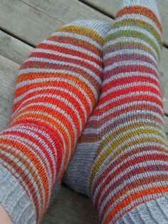 Lankaterapiaa: Raitatutkimuksia - Zauberball Crazy striping