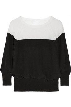 Narciso Rodriguez Two-tone cashmere sweater | NET-A-PORTER