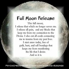 new moon ritual And so it is! Full Moon Spells, Full Moon Ritual, Full Moon Meditation, Healing Meditation, Wiccan Spells, Witchcraft, Real Spells, Smudging Prayer, New Moon Rituals
