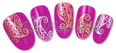 Paisley Henna http://www.missmanipedinailart.com/product/nail-art-water-slide-decals-transfers-stickers-metallic-henna-paisley/