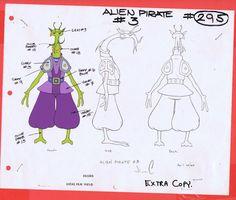 Star Wars Droids Original Cartoon Production Alien Pirate 3 Model CEL BV331   eBay