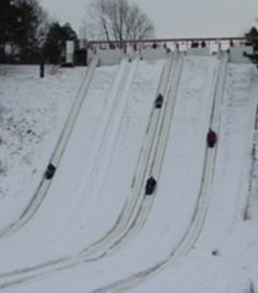 Toboggan Run at Echo Valley in Kalamazoo area of South West Michigan.