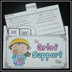 The Grief Support Files by Savvy School Counselor - Help your students navigate through the grieving process and spark helpful discussions during individual or group sessions.