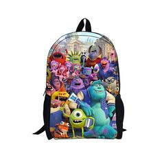Monsters University Backpack and Lunch Bag Attachable Set - Sulley ...