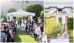 Chic Palm Springs Modern Jewish Wedding//chuppah ceremony