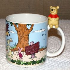 WINNIE the POOH Disney Coffee Mug Pooh Bear Statue | eBay