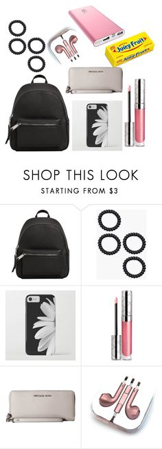 """""""In my backpack/purse"""" by annelieseoh ❤ liked on Polyvore featuring MANGO, Boohoo, By Terry, Michael Kors and PhunkeeTree"""