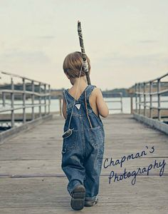 Children's Photography By Chapman's Photography.  my idea - red bandana in back pocket walking down tracks instead.