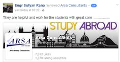 Best Study abroad Consultants       Arsa Advisers Pvt Ltd.    Study in Hungary Without IELTS: Admission open September intake Govt & private Largest Universities, University Of Debrecen, Budapest university of Technology & Economics,            & Budapest Metropolitan University.  Authorized representative  Schengen Visa Highest Visa Ratio.      Study In Canada with IELTS: Admission open September intake Minimum 6.0 Bands/ Minimum Education inter Govt Colleges 40  colleges and 30…