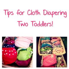 Tips for cloth diapering two toddlers