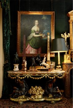 2016 Biennale des Antiquaires and Robert de Balkany at Sotheby& Antique Interior, Antique Decor, French Interior, Classic Interior, Home Interior, Antique Furniture, Interior And Exterior, Interior Decorating, Interior Design