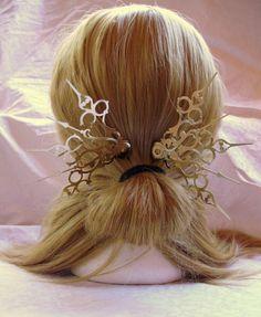Jessamine Wings Hair Pick Set Steampunk Accessory by Antickquities, $10.00