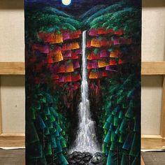 【godo_terasawa】さんのInstagramをピンしています。 《熊野の幻風景③「那智の滝」 正月帰省してリアル那智の滝を拝む前に、DM用に完成させてしまいましたが、個展までにもう一枚、別バージョンを描く予定です。  title : 『NACHI #1』 size : M8(455×273mm) acrylic on canvas  #terasawart #熊野の幻風景 #art #painting #滝 #那智の滝 #nachi #nachifalls #fall #greatfalls #絵 #絵描き #painter #美術 #fineart #芸術 #color #forest #deepforest #森林 #絵画 #アクリル画 #acrylic #acrylicpainting》