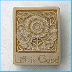 Das Leben ist gutes Handwerk Kunst Silikon Soap von AllforhomeMold, $6.99