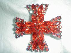 weiss brooch maltese cross vintage by qualityvintagejewels on Etsy, $125.00
