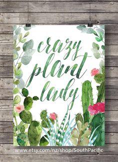 Señora loca planta | Tipografía arte de pared para imprimir impresión | arte de pared de novia | regalo de jardinero para imprimir | cita de jardinero | citas de matrimonio | Señora planta loca 16 x 20 imprimir fácilmente cambiado el tamaño a 8 x 10. HECHO CON AMOR ♥ ____________________________ Imprimir tantas veces como quieras, bien para uso personal y pequeño comercial. -------------------------------------------------------------------------------------- Después de confirmado el pago...