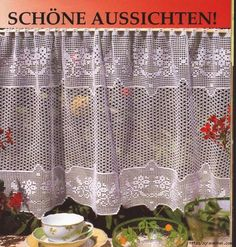 Crochet curtain, filet work ♥LCC-MRS♥ with diagram