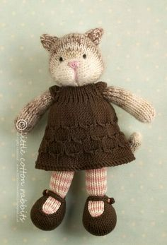 Price: £35 plus postage Tabitha is hand knitted from one strand of 01 Debbie Bliss Angel Prints (76% kid mohair, 24% silk) interwoven with one of Rowan Kid Classic (70% lambswool, 22% kid mohair, 8% p