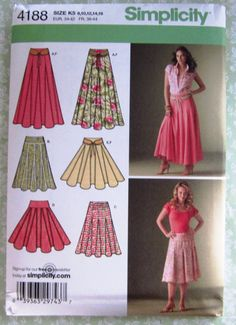 Misses Skirts with Length Variations and Belt Sizes 8 10 12 14