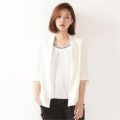 Buy 'MAGJAY – Open-Front 3/4-Sleeve Jacket' with Free International Shipping at YesStyle.com. Browse and shop for thousands of Asian fashion items from South Korea and more!