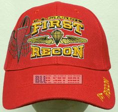 263235d95a5 Us marines usmc 1st first recon reconnaissance wings division parachute cap  hat