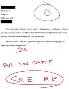 10 Inappropriately Funny Test Answers