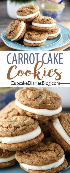 Carrot Cake Cookies - These copycat cookies from the iconic Writer's Stop in Disney's Hollywood Studios is the perfect dessert for any occasion!