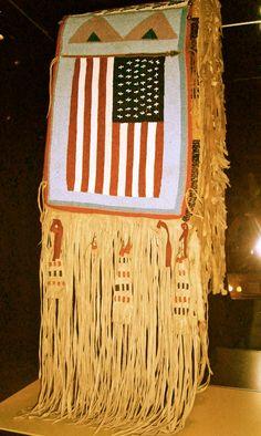 The Stars n Stripes, in a Native American beadwork saddle @NMAI in #DC #flag #4thofJuly