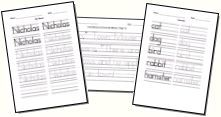 Make your own handwriting practice worksheets - Visit http://www.YourTherapySource.com for more pediatric therapy resources. - - Re-pinned by @PediaStaff – Please Visit http://ht.ly/63sNt for all our pediatric therapy pins