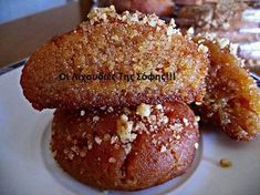 ΓΛΥΚΑ Archives - Page 4 of 42 - igastronomie. Greek Sweets, Greek Desserts, Greek Recipes, Just Desserts, Delicious Desserts, Pastry Recipes, Sweets Recipes, Cookie Recipes, Xmas Food