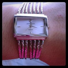PRICE REDUCED! Anne Klein watch Beautiful Anne Klein wrist watch! A few barely noticeable scratches on clasp. Needs a new battery. Good condition! Anne Klein Jewelry