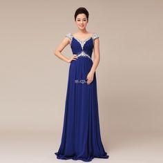 Abschlubballkleid lang blau